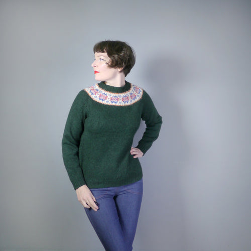 DARK GREEN FAIRISLE