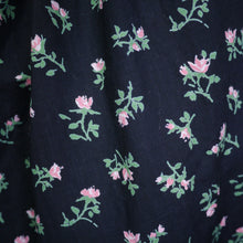 Load image into Gallery viewer, 50s CALIFORNIA COTTONS BLACK NEW LOOK STYLE DRESS WITH DITSY PINK FLORAL PRINT - S