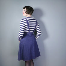 Load image into Gallery viewer, 70s ST MICHAEL PINAFORE A-LINE DENIM SUSPENDER / BRACES SKIRT - S