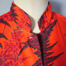Load image into Gallery viewer, 50s WAIKIKI SPORTS HAWAIIAN TEA TIMER COTTON SHIRT IN VIVID ORANGE - M-L