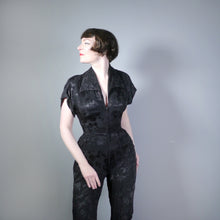Load image into Gallery viewer, LEE BENDER AT BUS STOP BLACK CULOTTE ZIP FRONT JUMPSUIT / PLAYSUIT - S