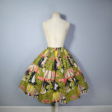 Load image into Gallery viewer, 50s RHONA ROY FANTASTIC PARISIAN CAFE SCENE NOVELTY SKIRT - 25""