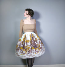 Load image into Gallery viewer, 50s NOVELTY SCENIC LANDSCAPE TREE BORDER PRINT FULL SKIRT - 27""