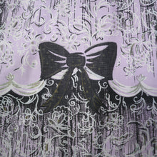 Load image into Gallery viewer, 50s NOVELTY BOW PRINT SKIRT IN LAVENDER AND BLACK - 28""