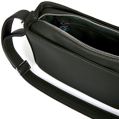 The Morphbag by GSK Black Forest Green crossbody bag interior