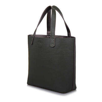 The Morphbag by GSK Black Forest Green tote side view