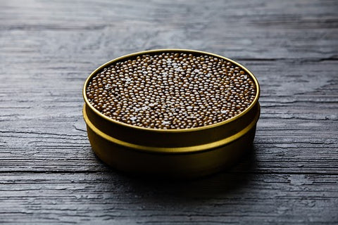 A can of black caviar