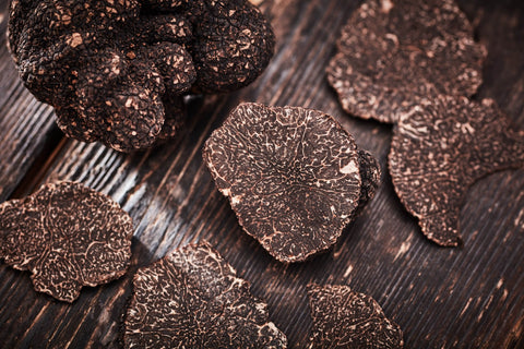 A lot variety of black truffles in the world