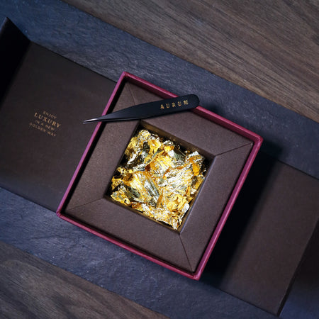 AURUM 23.75k Edible Gold Flakes Gift Set