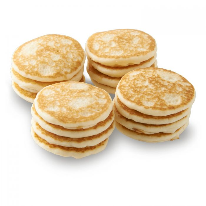 Fresh mini blinis, vacuum packed of 16pc