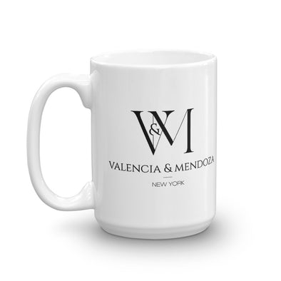 Betty en NY Valencia & Mendoza Stacked Logo White Mug-Shop Telemundo