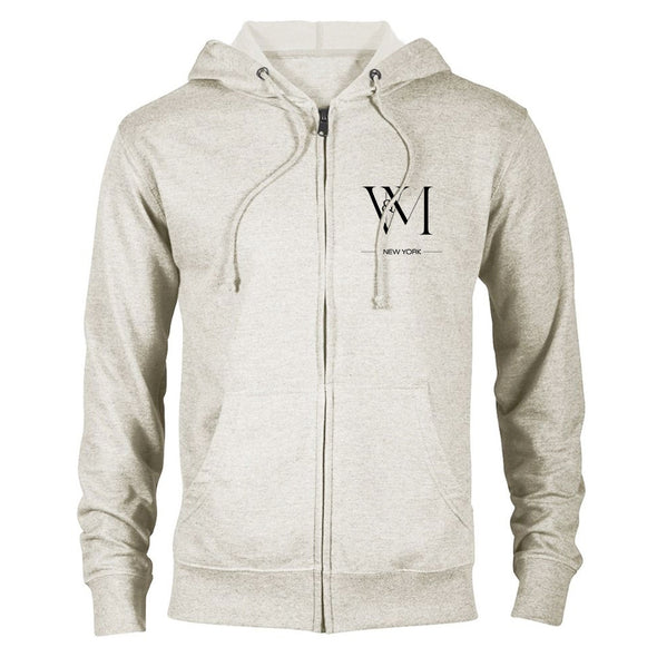 Betty en NY V&M Logo Lightweight Zip Up Hooded Sweatshirt