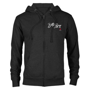 Betty en NY Lightweight Zip Up Hooded Sweatshirt