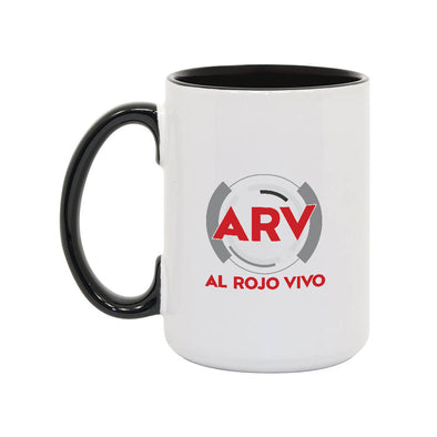 Al Rojo Vivo 15oz White/Black Mug