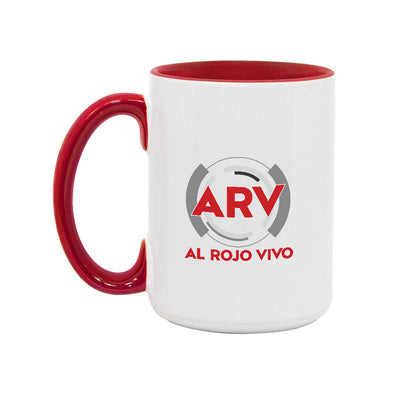 Al Rojo Vivo 15oz White/Red Mug