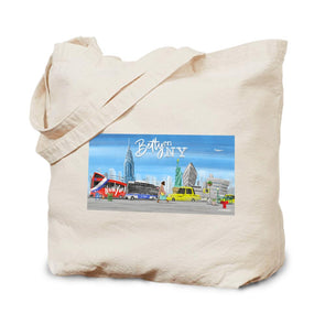 Betty en NY Animation Canvas Tote Bag