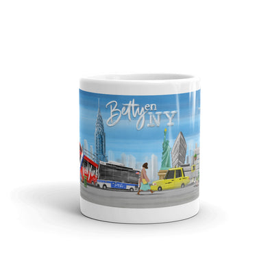 Betty en NY Animation White Mug