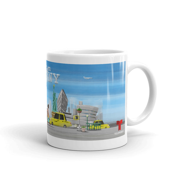 Betty en NY Animation White Mug-Shop Telemundo