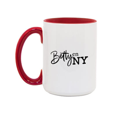 Betty en NY White and Red 15 oz Mug-Shop Telemundo
