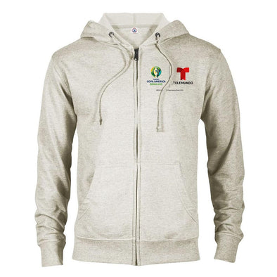 Copa América Brasil 2019 Lightweight Zip Up Hooded Sweatshirt-Shop Telemundo