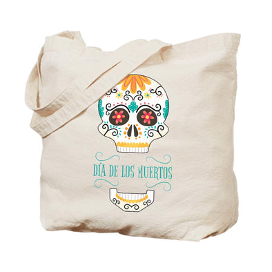 Sugar Skull Canvas Tote