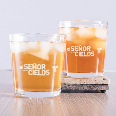 El Señor de los Cielos Rock Glass - Set of 2-Shop Telemundo