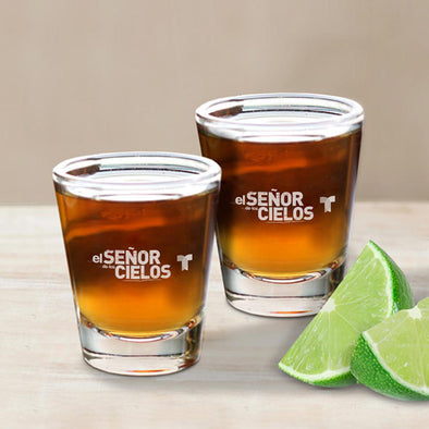 El Señor de los Cielos Shot Glass - Set of 2-Shop Telemundo