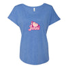I Love Jenni Logo Women's Tri-Blend Dolman T-Shirt