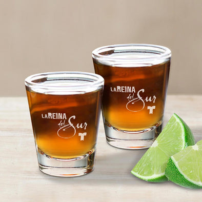La Reina del Sur Logo Shot Glass - Set of 2-Shop Telemundo