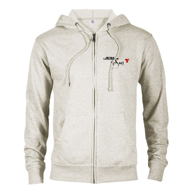 La Reina Del Sur Logo Lightweight Zip Up Hooded Sweatshirt