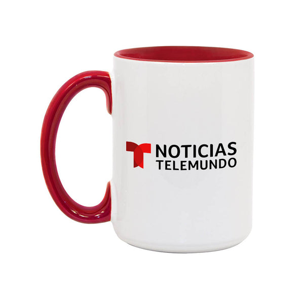 Noticias Telemundo 15oz White/Red Mug