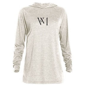 Betty en NY V&M Logo  Tri-blend Raglan Hoodie