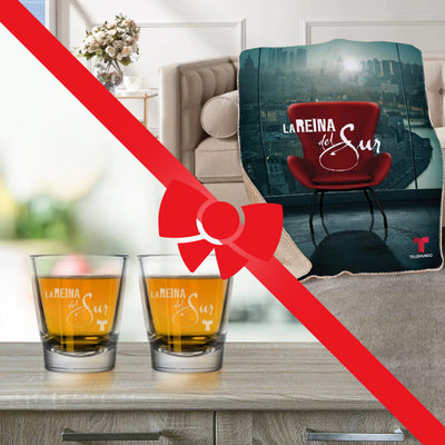 La Reina del Sur Bundle - Blanket and Shot Glasses-Shop Telemundo