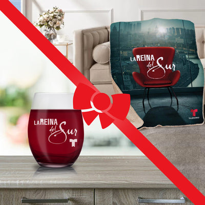 La Reina del Sur Bundle - Blanket and Stemless Wine Glass-Shop Telemundo