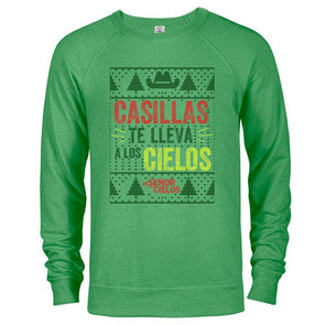 El Señor de los Cielos Casillas Ugly Christmas Lightweight Crew Neck Sweatshirt