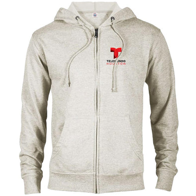 Telemundo Houston Lightweight Zip Up Hooded Sweatshirt