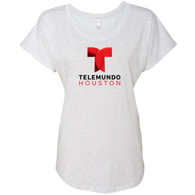 Telemundo Houston Women's Tri-Blend Dolman T-Shirt