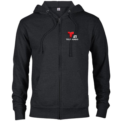 Telemundo Miami Lightweight Zip Up Hooded Sweatshirt