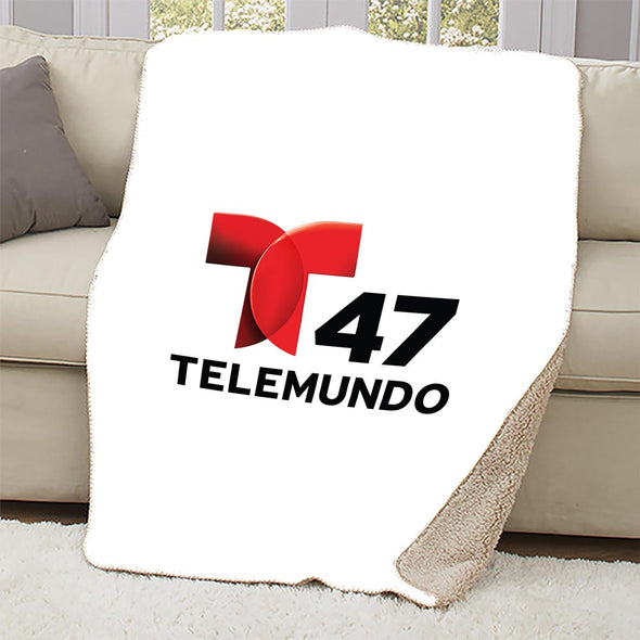 Telemundo 47 New York Sherpa Blanket