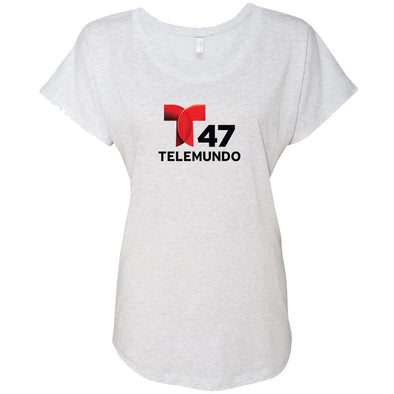 Telemundo New York Women's Tri-Blend Dolman T-Shirt