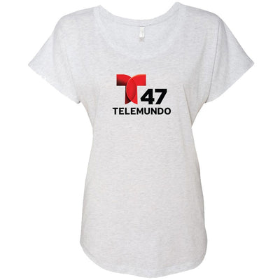 Telemundo 47 New York Women's Tri-Blend Dolman T-Shirt