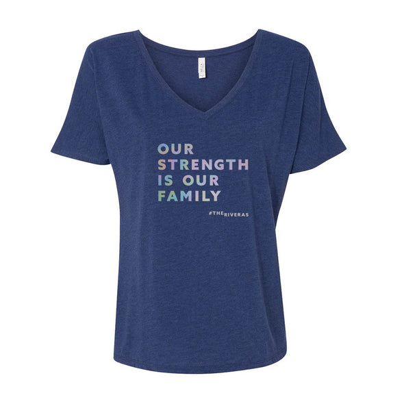 The Riveras Strength (English) Women's Relaxed V-Neck T-Shirt