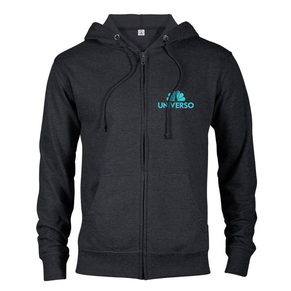 Universo Logo Lightweight Zip Up Hooded Sweatshirt