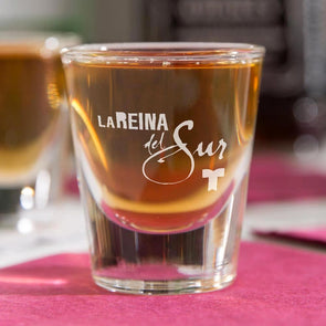 La Reina del Sur Logo Shot Glass