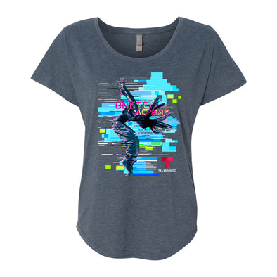 Únete al Party Women's Tri-Blend Dolman T-Shirt