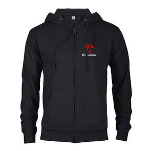 Telemundo Logo Lightweight Zip Up Hooded Sweatshirt