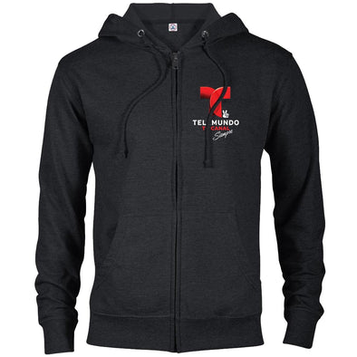 Telemundo Puerto Rico Lightweight Zip Up Hooded Sweatshirt