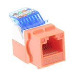 Cat 5E Orange Toolless Type Keystone Jack