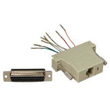 DB25 Female to Modular RJ45 Adapter, Ivory