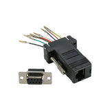 DB9 Female to Modular RJ45  Adapter, Black